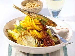 Sizilianische Fenchelnudeln mit Sardinen Rezept