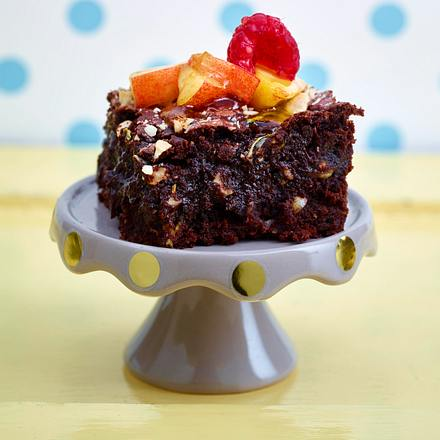 Skinny Brownie mit Zucchini und Mandeln Rezept