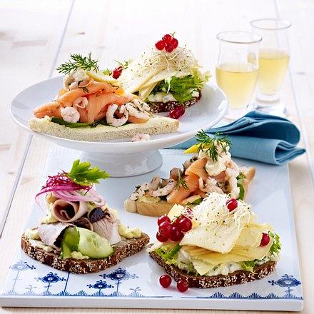 Smørrebrød (dänische Brothappen) mit Harvartikäse Rezept