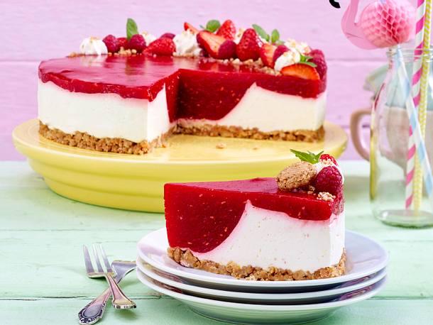 Smoothie-Frischkäse-Torte