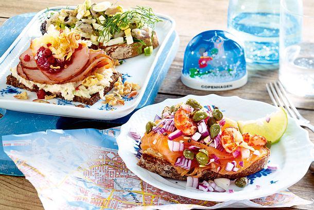 Smørrebrød mit Sill-Eier-Salat Rezept-F8581001