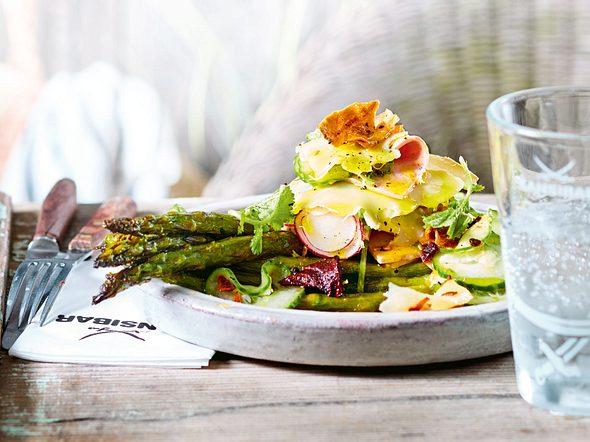 Smutjes Express-Wurstsalat mit Ofenspargel Rezept