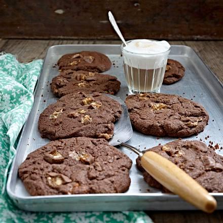 Snickers chocolate cookies Rezept