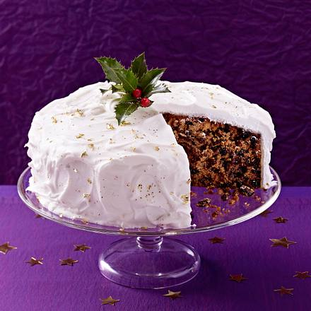 Snowy Christmas Cake Rezept