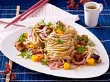 Soba-Nudeln mit Aubergine und Mango Rezept