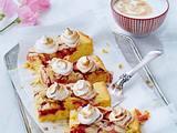 Sommerpflaumen-Kuchen mit Pflaumenmus-Baisertuffs Rezept