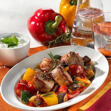 Sommerratatouille mit Schweinemedaillons Rezept