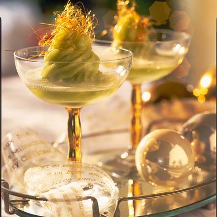 Sorbet aus grünem Tee mit Weihnachtsgewürzen Rezept