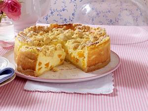 Soufflé-Torte mit Streuseln und Mandarinen Rezept
