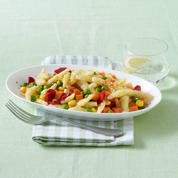 Spätzle Gemüsepfanne (Diäko Tag 1 zwischendurch) Rezept