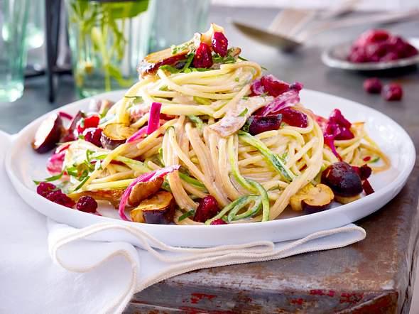 Spaghetti al funghi mit cremigem Blitz-Sößchen-F8554301