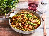 Spaghetti al Limone mit Hähnchenstreifen rezept