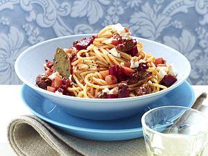 Spaghetti bolognese mit Roter Bete Rezept