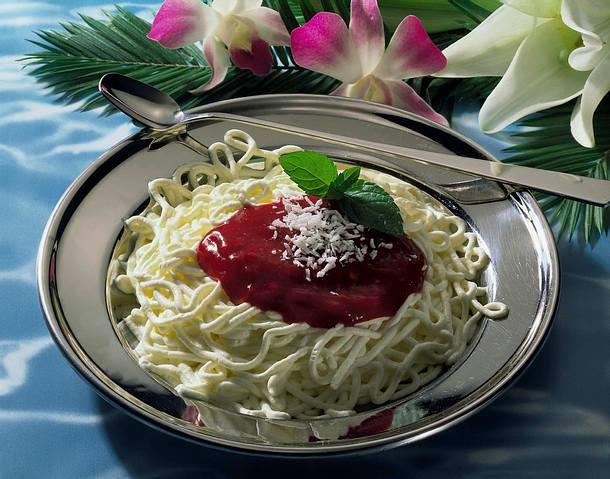 Spaghetti-Eis Rezept