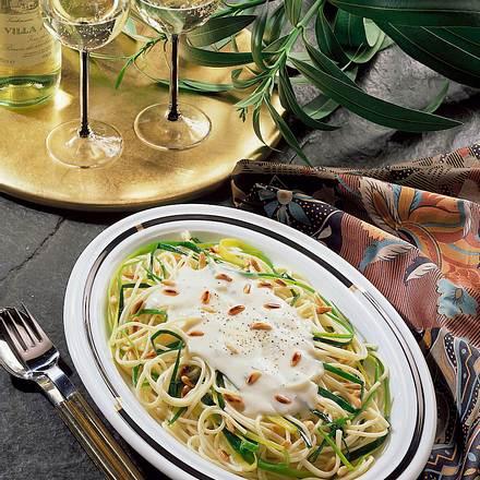 Spaghetti in Käsecreme Rezept