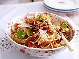 Spaghetti mit Bruschetta-Soße und Hähnchenfilet Rezept