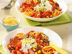 Spaghetti mit Cabanossi Rezept