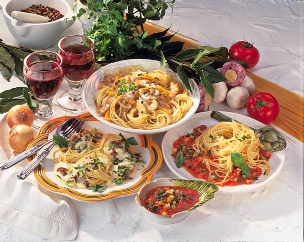 Spaghetti mit Champignon-Schnitzelsoße Rezept