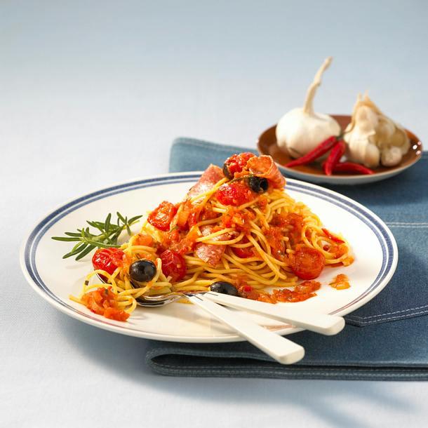 Spaghetti mit Chili-Knoblauch-Soße Rezept