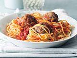 Spaghetti mit Fleischklößchen (Cynthia Barcomi) Rezept