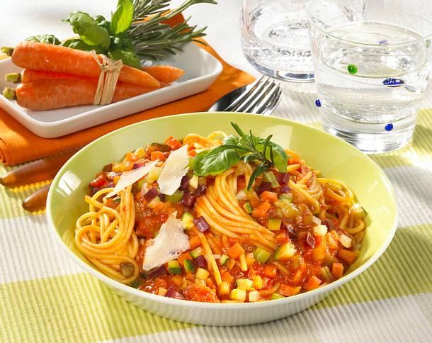 spaghetti mit gem se bolognese rezept lecker. Black Bedroom Furniture Sets. Home Design Ideas