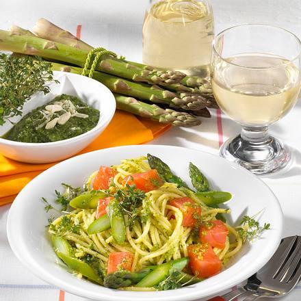 Spaghetti mit grünem Spargel Rezept