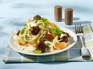Spaghetti mit Hackbällchen Rezept