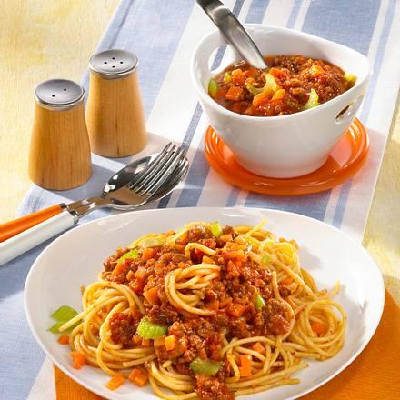 spaghetti mit hackfleischso e rezept chefkoch rezepte. Black Bedroom Furniture Sets. Home Design Ideas