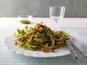 Spaghetti mit Hähnchenstreifen und Limettenpesto Rezept