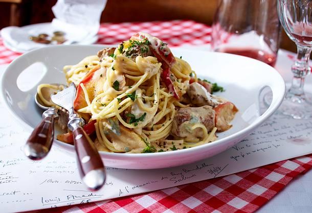 Spaghetti mit Lamm in Roquefortsoße Rezept