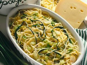 Spaghetti mit Lauchzwiebeln und Schnittlauch Rezept