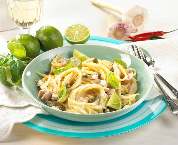 Spaghetti mit Limetten-Thunfisch-Soße Rezept