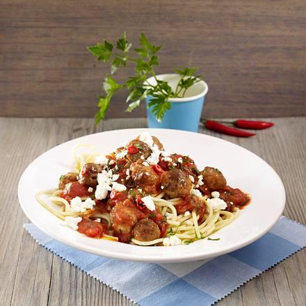 spaghetti mit orientalischer tomatenso e und hackb llchen grundso e varianten rezept. Black Bedroom Furniture Sets. Home Design Ideas