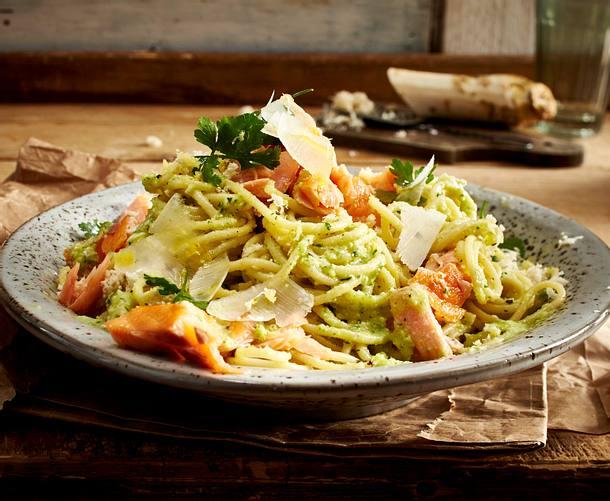Spaghetti mit Petersilienwurzel-Pesto Rezept