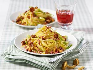 Spaghetti mit Pfifferlingen Rezept