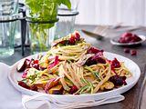 Spaghetti mit Pilzsahnesoße und Cranberrys Rezept