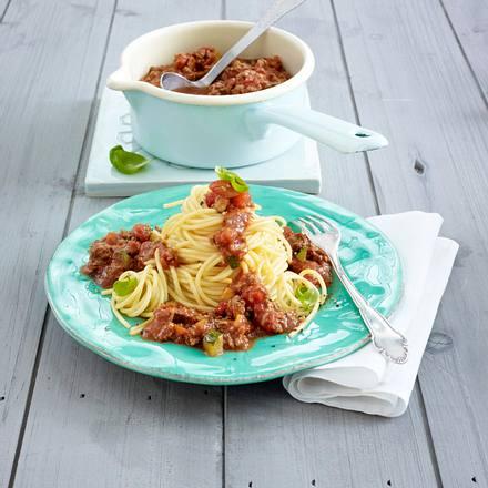 Spaghetti mit Ratatouille-Bolognese Rezept