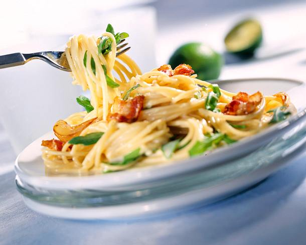 Spaghetti mit Rauke Rezept