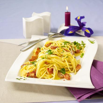 Spaghetti mit Safran-Geschnetzeltem (gleiches Gericht wie F1274101) +  Variante Rezept