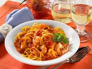 Spaghetti mit Scampi Rezept