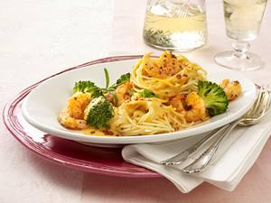 Spaghetti mit Scampi-Soße (Pastasoße) Rezept