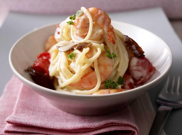 Spaghetti mit Scampi und Datteln Rezept