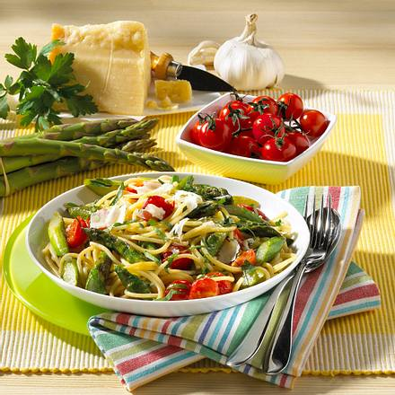 Spaghetti mit Spargel Rezept