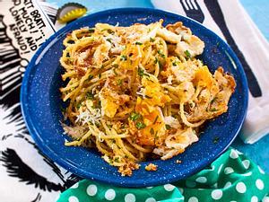 Spaghetti mit Spiegelei Rezept