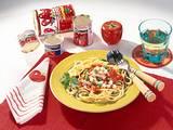 Spaghetti mit Tomaten-Schinken-Soße Rezept
