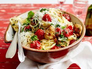 Spaghetti mit Zitronenhähnchen Rezept