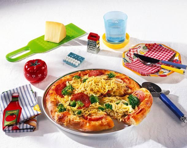 Spaghetti-Pizza Rezept