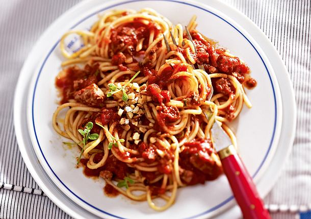 Spaghetti Tofunese Rezept