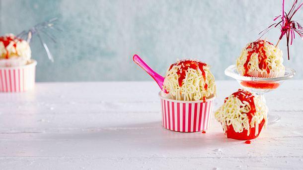 Spaghettieis-Cupcakes Rezept