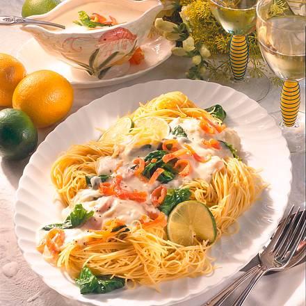 Spaghettini mit Lachssoße Rezept